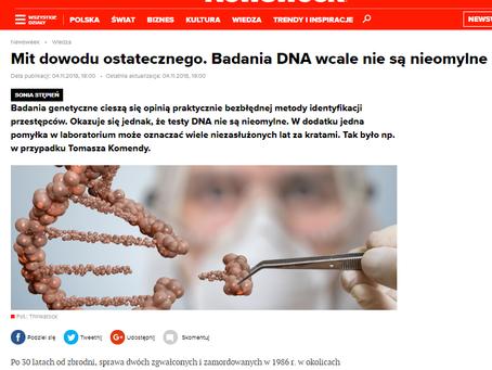 Mit dowodu ostatecznego. Badania DNA wcale nie są nieomylne