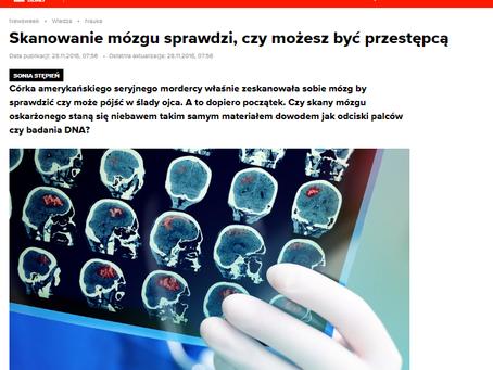 Skanowanie mózgu sprawdzi, czy możesz być przestępcą - Newsweek Polska