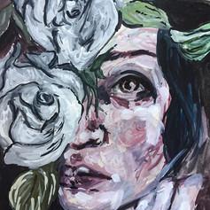 Roses. Gouache on paper. 9 x 12