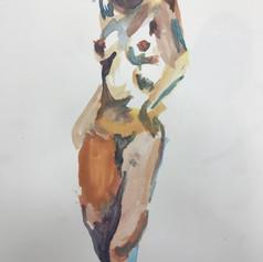 Gouache on paper. 9 x 12