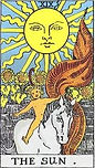 The Sun Tarot Upright Meaning by The Tarot Guide, Learn How to Read Tarot Cards, Major Arcana, General Interpretation, Love, Relationships, Money, Finance, Health, Spirituality, Keywords, Tarot Reading, Tarot Readers, Psychic, Clairvoyant, Reiki, Palm, Online, Skype, Email, In-person Tarot Readings, Dublin, Ireland, UK, USA, Canada, Australia, How Someone Sees You, Feels About You, Job Offer, Feelings¸ Outcome