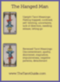 The Hanged Man Tarot flashcard upright and reversed meaning by The Tarot Guide, Major Arcana, free Tarot reading, Online Tarot, Love Tarot, Tarot card meanings, lotus tarot, clairvoyant, Taro, free Tarot, reiki, numerology, tarot reader Auckland,