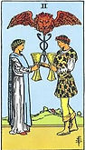 Two of Cups Tarot card upright and reversed meaning by The Tarot Guide, Minor Arcana, Two of Cups Tarot, Tarot card meanings, Two of Cups Tarot card, Two of Cups Tarot meaning, Two of Cups Tarot reading, Two of Cups reversed, Two of Cups Tarot reversed,