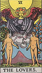 The Lovers Tarot Upright Meaning by The Tarot Guide, Learn How to Read Tarot Cards, Major Arcana, General Interpretation, Love, Relationships, Money, Finance, Health, Spirituality, Keywords, Tarot Reading, Tarot Readers, Psychic, Clairvoyant, Reiki, Palm, Online, Skype, Email, In-person Tarot Readings, Dublin, Ireland, UK, USA, Canada, Australia, How Someone Sees You, Feels About You, Job Offer, Feelings, Outcome