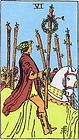 Learn how to read Tarot, Six of Wands Tarot Card Upright and Reversed, 6 of Wands Tarot, Relationships, Love, Career, Money, Health, Spirit, Ireland, UK, USA, Canada, Australia, NZ, Online Tarot Reading, how someone sees you, feels about you, future, work, single, outcome, personality