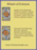 Wheel of Fortune Tarot flashcard upright and reversed meaning by The Tarot Guide, Major Arcana, free Tarot reading, Online Tarot, Love Tarot, career Tarot, lotus tarot, clairvoyant, palm reading, chakra, chakras, wicca, tarot reader London