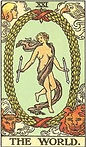 The World Tarot Upright Meaning by The Tarot Guide, Learn How to Read Tarot Cards, Major Arcana, General Interpretation, Love, Relationships, Money, Finance, Health, Spirituality, Keywords, Tarot Reading, Tarot Readers, Psychic, Clairvoyant, Reiki, Palm, Online, Skype, Email, In-person Tarot Readings, Dublin, Ireland, UK, USA, Canada, Australia, How Someone Sees You, Feels About You, Job Offer, Feelings¸ Outcome