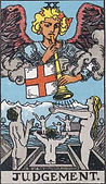 Judgement Tarot card upright and reversed meaning by The Tarot Guide, Major Arcana, Judgement Tarot, Judgement Tarot card, Judgement Tarot meaning, Judgement Tarot reading, Tarot Judgement, , Judgement reversed, Judgement Tarot reversed, Tarot reading