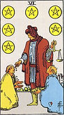 Six of Pentacles Tarot card upright and reversed meaning by The Tarot Guide, Minor Arcana, Six of Pentacles Tarot, Six of Pentacles reversed, Tarot Six of Pentacles reversed, Tarot card meanings, Six of Pentacles Tarot card, Six of Pentacles Tarot meaning,