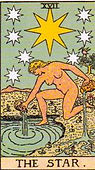 The Star Tarot card upright and reversed meaning by The Tarot Guide, Major Arcana, The Star Tarot, Tarot card meanings, The Star Tarot card, The Star Tarot meaning, The Star Tarot reading, Tarot The Star, The Star reversed, The Star Tarot reversed,