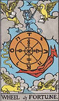 Wheel of Fortune Tarot Upright Meaning by The Tarot Guide, Learn How to Read Tarot Cards, Major Arcana, General Interpretation, Love, Relationships, Money, Finance, Health, Spirituality, Keywords, Tarot Reading, Tarot Readers, Psychic, Clairvoyant, Reiki, Palm, Online, Skype, Email, In-person Tarot Readings, Dublin, Ireland, UK, USA, Canada, Australia, How Someone Sees You, Feels About You, Job Offer, Feelings¸ Outcome