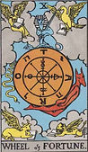 Wheel of Fortune Tarot card upright and reversed meaning by The Tarot Guide, Major Arcana, Wheel of Fortune Tarot, Tarot card meanings, Wheel of Fortune Tarot card, Wheel of Fortune Tarot meaning, Wheel of Fortune Tarot reading, Tarot card reading,