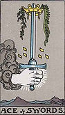Ace of Swords Tarot card upright and reversed meaning by The Tarot Guide, Minor Arcana, Ace of Swords Tarot, Tarot card meanings, Ace of Swords Tarot card, Ace of Swords Tarot card reversed, Ace of Swords Tarot meaning, Ace of Swords Tarot, Tarot Dublin