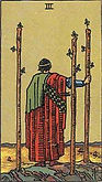 Three of Wands Tarot card upright and reversed meaning by The Tarot Guide, Minor Arcana, Three of Wands Tarot, Tarot card meanings, Three of Wands Tarot card, Three of Wands Tarot meaning, Three of Wands Tarot reading, Tarot card reading, Tarot reading,