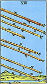 Eight of Wands Tarot card upright and reversed meaning by The Tarot Guide, Minor Arcana, Eight of Wands Tarot, Tarot card meanings, Eight of Wands Tarot card, Eight of Wands Tarot meaning, Eight of Wands Tarot reading, Tarot Reader, Tarot reading, Toronto