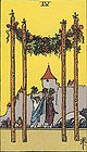 Learn how to read Tarot, Four of Wands Tarot Card Upright and Reversed, 4 of Wands Tarot, Relationships, Love, Career, Money, Health, Spirit, Ireland, UK, USA, Canada, Australia, NZ, Online Tarot Reading, how someone sees you, feels about you, future, work, single, outcome, personality