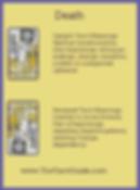 Death Tarot flashcard upright and reversed meaning by The Tarot Guide, Major Arcana, free Tarot reading, Online Tarot, Love Tarot, career Tarot, lotus tarot, clairvoyant, palm reading, chakra, chakras, wicca, tarot reader Galway,