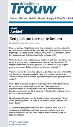 Publicatie serie Nergens Anders - Dagblad Trouw