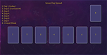 Seven Day Spread! Check out this and more free tarot spreads by The Tarot Guide! Tarot card spreads, tarot card layouts, love tarot spread, Relationship tarot spread, 7 day spread, free daily tarot, taro, free tarot, how to read tarot cards,