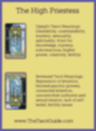 The High Priestess Tarot flashcard upright and reversed meaning by The Tarot Guide, Major Arcana, free Tarot reading, reincarnation, witch, magic, rose quartz, crystals, reiki massage, celtic cross, physic, tarot reading New York,