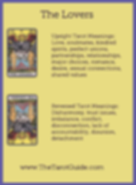 The Lovers Tarot flashcard upright and reversed meaning by The Tarot Guide, Major Arcana, free Tarot reading, Online Tarot, Love Tarot, Tarot card meanings, lotus tarot, clairvoyant, Taro, free Tarot, reiki, numerology, tarot reader Manchester, tarot readi