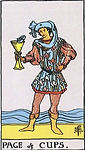 Page of Cups Tarot Upright Meaning by The Tarot Guide, Learn How to Read Tarot Cards, Minor Arcana, General Interpretation, Love, Relationships, Money, Finance, Health, Spirituality, Keywords, Tarot Reading, Tarot Readers, Psychic, Clairvoyant, Reiki, Palm, Online, Skype, Email, In-person Tarot Readings, Dublin, Ireland, UK, USA, Canada, Australia, How Someone Sees You, Feels About You, Job Offer, Feelings¸ Outcome