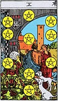Ten of Pentacles Tarot Upright Meaning by The Tarot Guide, Learn How to Read Tarot Cards, Minor Arcana, General Interpretation, Love, Relationships, Money, Finance, Health, Spirituality, Keywords, Tarot Reading, Tarot Readers, Psychic, Clairvoyant, Reiki, Palm, Online, Skype, Email, In-person Tarot Readings, Dublin, Ireland, UK, USA, Canada, Australia, How Someone Sees You, Feels About You, Job Offer, Feelings¸ Outcome