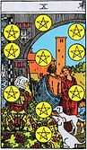 Ten of Pentacles Tarot card upright and reversed meaning by The Tarot Guide, Tarot Ten of Pentacles, Ten of Pentacles reversed, Ten of Pentacles Tarot reversed, Ten of Pentacles Tarot card reversed, Tarot Ten of Pentacles reversed, Ten of Pentacles reverse