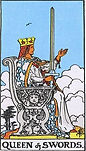 Queen of Swords Tarot Reversed Meaning by The Tarot Guide, Learn How to Read Tarot Cards, Minor Arcana, General Interpretation, Love, Relationships, Money, Finance, Health, Spirituality, Keywords, Tarot Reading, Tarot Readers, Psychic, Clairvoyant, Reiki, Palm, Online, Skype, Email, In-person Tarot Readings, Dublin, Ireland, UK, USA, Canada, Australia, How Someone Sees You, Feels About You, Job Offer, Feelings, Outcome