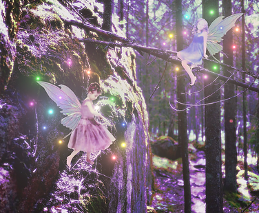 Fairy Rock, Artwork from The Tarot Guide www.TheTarotGuide.com #fantasyart #tarot #tarotreading #fairies #fairyart