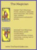 The Magician Tarot flashcards card upright and reversed meaning by The Tarot Guide, Major Arcana, free Tarot reading, Online Tarot, Love Tarot, career Tarot, lotus tarot, clairvoyant, palm reading, chakra, chakras, wicca, tarot reading London