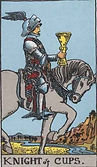 Knight of Cups Tarot card upright and reversed meaning by The Tarot Guide, Minor Arcana, Knight of Cups Tarot, Tarot Knight of Cups reversed, Knight of Cups reversed, Tarot Knight of Cups, Tarot card meanings, Knight of Cups Tarot card,Tarot reading Dublin