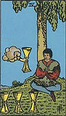 Four of Cups Tarot card upright and reversed meaning by The Tarot Guide, Minor Arcana, Four of Cups Tarot, Four of Cups Tarot card, Four of Cups Tarot meaning, Four of Cups Tarot reading, Tarot Four of Cups, Four of Cups reversed, Tarot 4 of Cups