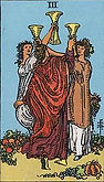 Three of Cups Tarot card upright and reversed meaning by The Tarot Guide, Minor Arcana, Three of Cups Tarot, Tarot card meanings, Three of Cups Tarot card, Three of Cups Tarot meaning, Three of Cups Tarot reading, Tarot Three of Cups, Three of Cups reverse