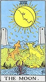 The Moon Tarot card upright and reversed meaning by The Tarot Guide, Major Arcana, The Moon Tarot, Tarot card meanings, The Moon Tarot card, The Moon Tarot meaning, The Moon Tarot reading, Tarot The Moon, The Moon reversed, The Moon Tarot reversed, Dublin