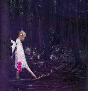 Fairy Flower Girl, Artwork from The Tarot Guide www.TheTarotGuide.com #fairyart #fairy #tarot #tarotreading #art