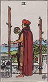 Two of Wands Tarot card upright and reversed meaning by The Tarot Guide, Minor Arcana, Two of Wands Tarot, Tarot card meanings, Two of Wands Tarot card, Two of Wands Tarot meaning, Two of Wands Tarot reading, Tarot card reading, Tarot reading,