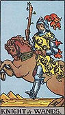 Knight of Wands Tarot card upright and reversed meaning by The Tarot Guide, Minor Arcana, Knight of Wands Tarot, Tarot card meanings, Knight of Wands Tarot card, Knight of Wands Tarot meaning, Knight of Wands Tarot reading, Tarot card reading, Tarot readin