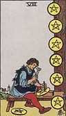 Eight of Pentacles Tarot card upright and reversed meaning by The Tarot Guide, Minor Arcana,Eight of Pentacles Tarot reading, Tarot card reading, Tarot reading, free Tarot, Tarot Eight of Pentacles, Eight of Pentacles reversed, Eight of Pentacles Tarot