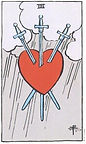 Three of Swords Tarot Upright Meaning by The Tarot Guide, Learn How to Read Tarot Cards, Minor Arcana, General Interpretation, Love, Relationships, Money, Finance, Health, Spirituality, Keywords, Tarot Reading, Tarot Readers, Psychic, Clairvoyant, Reiki, Palm, Online, Skype, Email, In-person Tarot Readings, Dublin, Ireland, UK, USA, Canada, Australia, How Someone Sees You, Feels About You, Job Offer, Feelings¸ Outcome