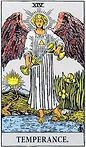 Temperance Tarot Upright Meaning by The Tarot Guide, Learn How to Read Tarot Cards, Major Arcana, General Interpretation, Love, Relationships, Money, Finance, Health, Spirituality, Keywords, Tarot Reading, Tarot Readers, Psychic, Clairvoyant, Reiki, Palm, Online, Skype, Email, In-person Tarot Readings, Dublin, Ireland, UK, USA, Canada, Australia, How Someone Sees You, Feels About You, Job Offer, Feelings¸ Outcome