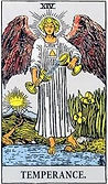 Temperance Tarot card upright and reversed meaning by The Tarot Guide, Major Arcana, Temperance Tarot, Tarot card meanings, Temperance Tarot card, Temperance Tarot meaning, Temperance Tarot reading, , Tarot Temperance, Temperance reversed,