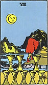 Eight of Cups Tarot card upright and reversed meaning by The Tarot Guide, Minor Arcana, Eight of Cups Tarot, Eight of Cups reversed, Eight of Cups Tarot reversed, Eight of Cups Tarot card reversed, Tarot card meanings, Eight of Cups Tarot card, 8 of cups