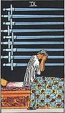 Nine of Swords Tarot card upright and reversed meaning by The Tarot Guide, Minor Arcana, Nine of Swords Tarot, Tarot card meanings, Nine of Swords Tarot card, Nine of Swords Tarot meaning, Nine of Swords Tarot reading, Tarot reading NJ, Tarot reading NYC