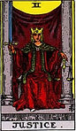 Justice Tarot Upright Meaning by The Tarot Guide, Learn How to Read Tarot Cards, Major Arcana, General Interpretation, Love, Relationships, Money, Finance, Health, Spirituality, Keywords, Tarot Reading, Tarot Readers, Psychic, Clairvoyant, Reiki, Palm, Online, Skype, Email, In-person Tarot Readings, Dublin, Ireland, UK, USA, Canada, Australia, How Someone Sees You, Feels About You, Job Offer, Feelings¸ Outcome