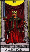 Justice Tarot card upright and reversed meaning by The Tarot Guide, Major Arcana, Justice Tarot, Tarot card meanings, Justice Tarot card, Justice Tarot meaning, Justice Tarot reading, Tarot card reading, Tarot reading, free Tarot, Tarot Justice,