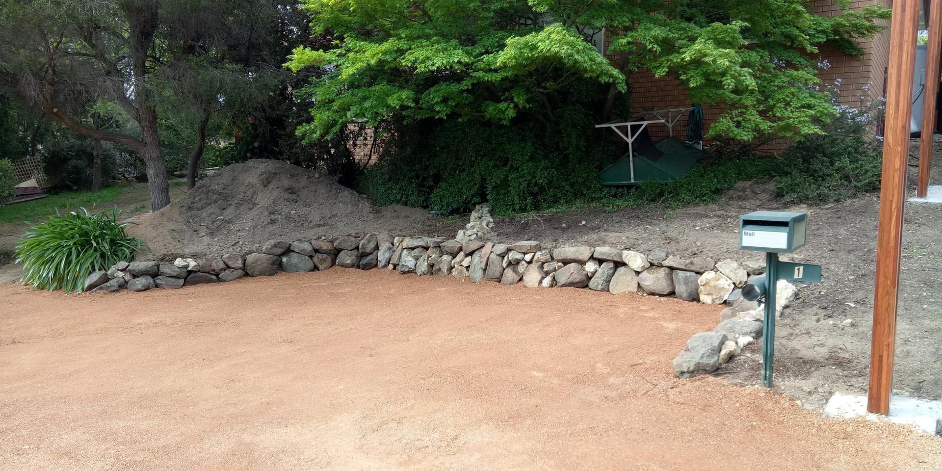 Reclaimed rock wall