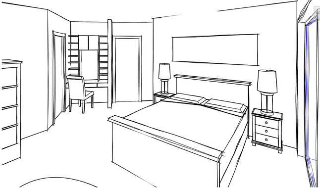 Internal Perspective - Master Suite