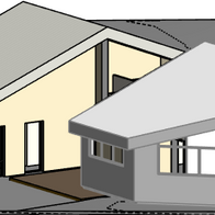 Tricky extension with existing architectural features