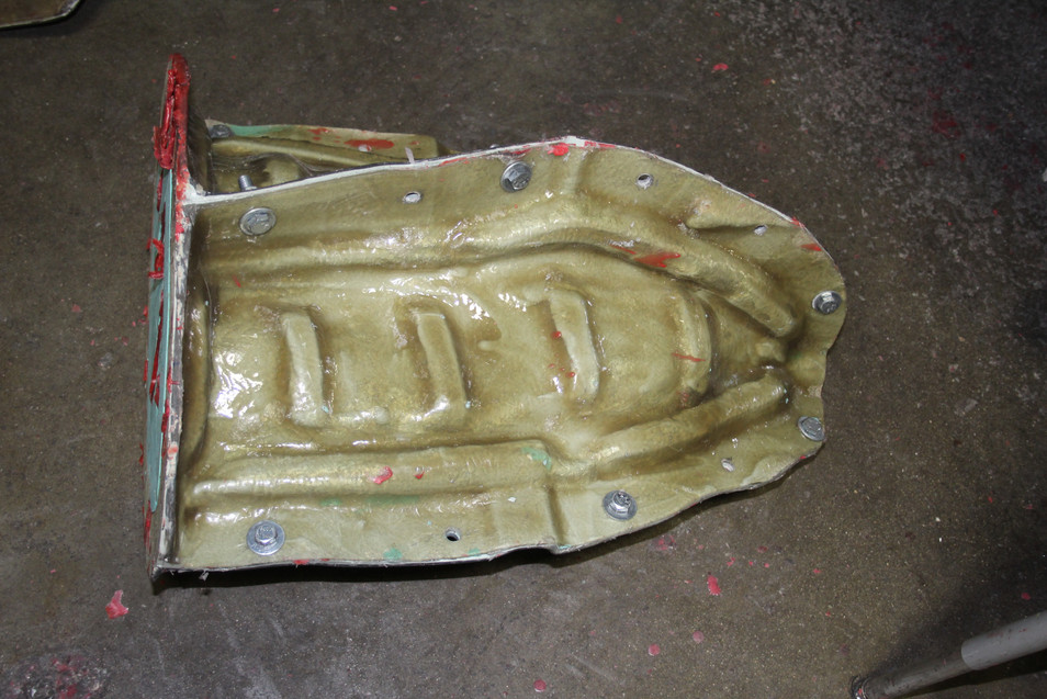 The largest of the 12 moulds ready for wax
